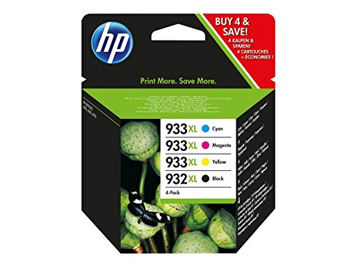 HP 932XL/933XL Combo PACKPAQUETE DE 4ALTO RENDIMIENTONEGRO, Amarillo, CIN, MAGENTAORIGINALOFFICEJETCARTUCHO DE TINTAPARA OFFICEJET 6100, 6600 H711A, 6700, 7110, 7510, 7610, 7612