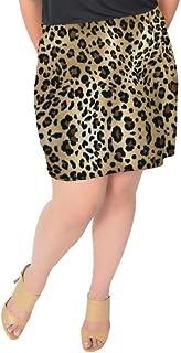 Stretch is Comfort Women's Plus Size Cotton Soft Stretch Fabric Basic Mini Skirt
