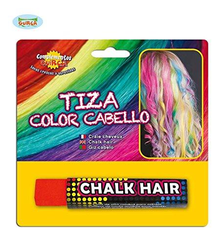 Fiestas Guirca GUI15606 - blisterverpakking haarkleur stick, rood