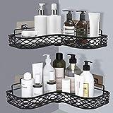 Organizador de ducha, organizador de ducha, estantes de almacenamiento o accesorios de cocina y baño (negro)