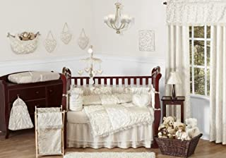 Sweet Jojo Designs 9-Piece Champagne and Ivory Victoria Baby Bedding Girl Crib Set