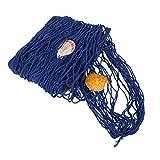 Vosarea - Red de Pesca Colgante de Pared, Red Decorativa náutica con Adornos de Concha para decoración de Fondo, 1 m x 2 m, Azul
