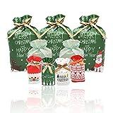 30 Sacchetti Regalo di Natale con Coulisse Bustine Natalizie Regalo Buste Confezioni Regalo Natale Sacchetti Caramelle Natalizi Plastica per Regalo/Caramelle/Dolci Grande Medi Piccole