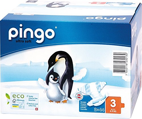176 St. Pingo BIO Windeln MIDI Größe 3 (4-9 kg) 4x Beutel
