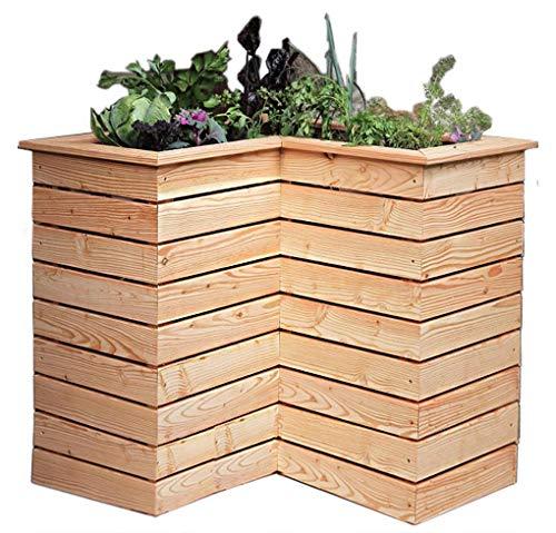 Gartenpirat Hochbeet schmal 80x40 cm H 71 cm Pflanzkasten aus Lärche unbehandelt für Ecke