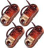 Proster 4 PZ LED Luce Indicatore Anteriore Laterale 12V 24V Lampada Indicatore per Camion Furgone Rimorchi Auto - Ambra
