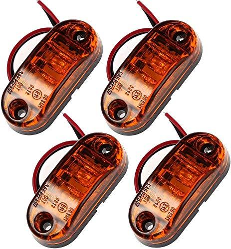 PROZOR 4 PCS LED Vorderseite Marker Lights Prozor 12 V 24 V LKW Van Anhänger Kontrollleuchte für Auto LKW Van Anhänger Indikator- Bernstein