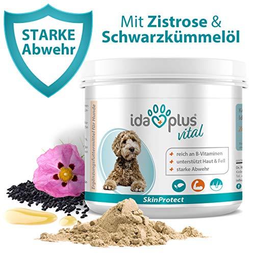 Ida Plus SkinProtect 250 g - 100% Naturprodukt für Hunde - mit Bierhefe, Zistrose, Schwarzkümmelöl - reich an B-Vitaminen - unterstützt Haut & Fell - stärkt die natürlichen Abwehrkräfte