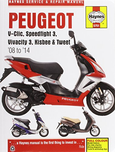 Peugeot V-Clic, Speedfight 3, Vivacity 3, Kisbee & Tweet (08 To 14) (Haynes Service & Repair Manual)