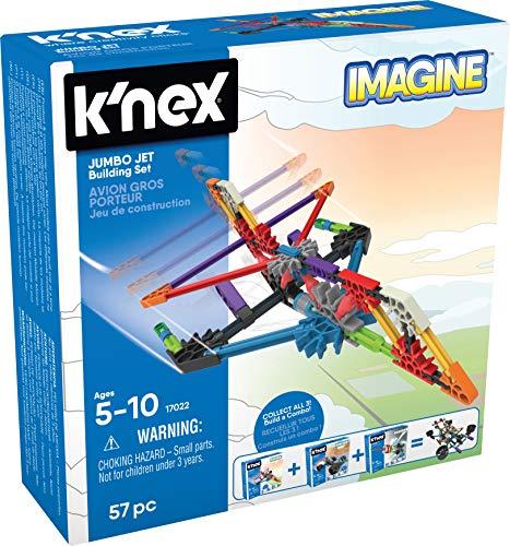 K'nex 35463 Imagine - Juego de construcción y construcción de Aviones Grandes, Juego de construcción de avión, Juego de construcción con más de 60 Piezas, Juego para niños de 5 – 10 años, Piezas