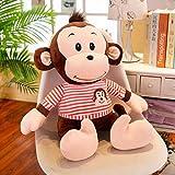 Anyinghh 40/60/75/90 cm Grande Lindo Mono Rayado muñeco de Peluche pequeño Mono muñeca muñeca Abrazo para Dormir Regalo de cumpleaños niña 90 cm Camello