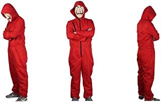 Unisex Dali Mask Red Costume for La Casa De Papel Coverall Jumpsuits