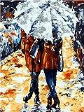 nobrand Cuadros para Pintar por Numeros Pareja abstracta DIY adulto pintura al óleo digital lienzo set regalo de vacaciones creación de arte hecho a mano-Sin Marco 50X65Cm