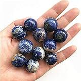 KDHJY Bola 1-5Piece 19-21MM Piedra Preciosa Natural Azul Sodalita Esfera de Cristal Globo de la Bola de Chakra Stone Crafts Minerales Decorativa (Color : 5pcs)