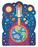 Playhouse Glow in The Dark Blast Off 30-Piece Die-Cut Shaped Mini Puzzle for Kids