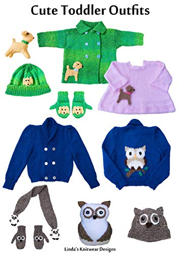 Cute toddler outfits to knit with dog or owl design (Cute baby/toddler outfits Book 2) (English Edition)