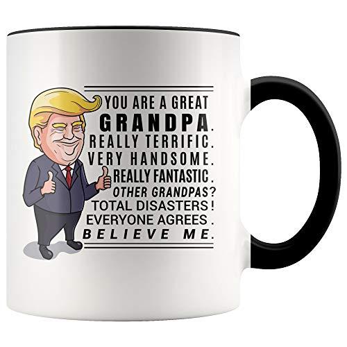Younique Designs Trump Grandpa Mug, 11 Ounces, Donald Trump Coffee Mugs, Best Grandpa Mug