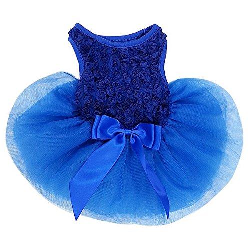 Kirei Sui Rosettes Dog Dress L Royal Blue