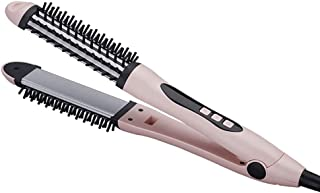 Hair Straighteners, Curling Iron Brush 2 in 1, LCD Display, Adjustable Temperature, for All Hair Types Styling Tools with ...