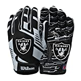 Wilson NFL Stretch Fit Football Gloves - Las Vegas-Youth (WTF9327LV)