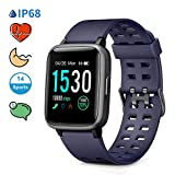 Glymnis Smartwatch Orologio Fitness Smart Watch Uomo Donna Impermeabile IP68 Cardiofrequenzimetro da...