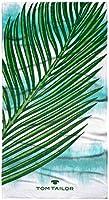 TOM TAILOR 0110370 ręcznik plażowy i do leżenia welur Palm Leaves 1x 85x160 cm aqua