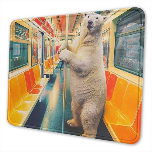 Mausemat Polar Express Zug Lustige Eisbär Mousepad Rechteck Schreibtisch Dekor Rutschfeste Gummi Spielmatte 3 Größen Computer Laptop Bürozubehör Benutzerdefinierte Bunte Schule 25X30cm