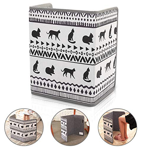 Cheapest Prices! Space Heater, Foldable Foot Warmer Portable Panel Heater with Tip-Over 45°Angle Au...