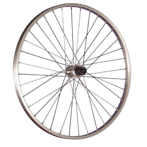 Taylor-Wheels 26 Pollici Ruota Posteriore Bici mozzo Shimano Tourney Argento