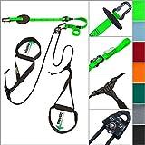 eaglefit Sling Trainer Allround Elastic, Attrezzatura Fitness per Allenamento in Sospensione con Galoppino, Regolatore di Lunghezza 90-310 cm, Resistenza 160 kg, Colore: Verde