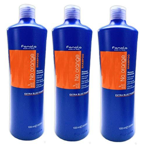 3er No Orange Anto Orange Shampoo Fanola Made in Italy Extra Blue Pigment 1000 ml