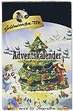 Goldmännchen Tannenbaum Adventskalender mit 24 verschiedenen Teesorten, 1er Pack (1 x 54 g)