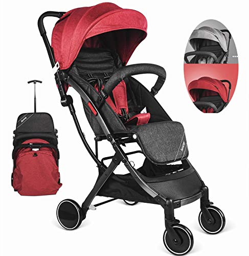 Besrey Buggy Kinderwagen Reisebuggy einhand kompakt klappbar mit Liegeposition ab Geburt bis 3...