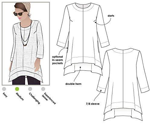Style Arc Schnittmuster Tunika–Daisy Flip, Sizes 18-30