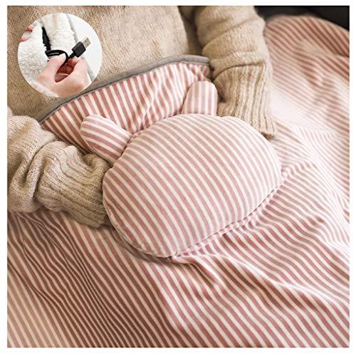LXLTL Kuschelheizdecke, USB Faule Decke Schal Nickerchen Mantel Verdicken Warm halten Büro Plüsch Herbst und Winter Flanell Wärmeunterbett,A