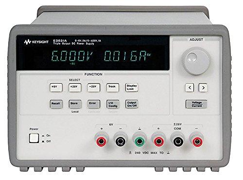 KEYSIGHT E3631A 80W Triple Output Power Supply, 6V, 5A & +/- 25V, 1A