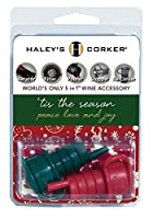 Haley's Corker 5イン1 ワインエアレーター ストッパー 注ぎ口 フィルター 再度コーカー Tis the Season' (レッド グリーン)