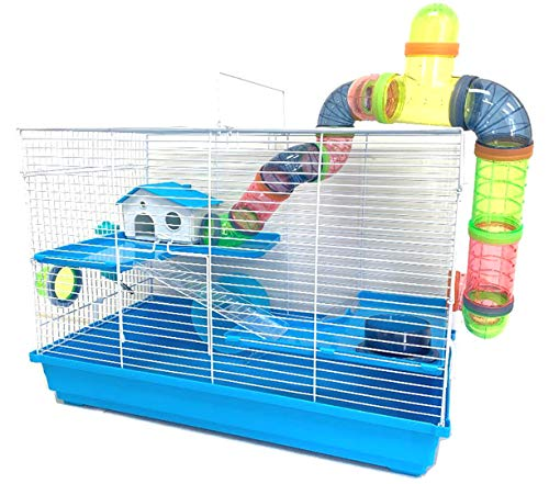 Large 3-Floors Small Animal Cage for Dwarf Syrian Hamster Habitat Rodent Gerbil Rat Mouse Mice