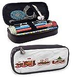 XCNGG Astucci colorati natalizi, trenino di pan di zenzero Piccolo carino stand-up impermeabile senza polvere 8 'x3,5' x1,5 '