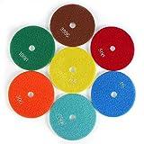 FTVOGUE 5 '' pulgadas 125 mm Discos de esmerilado Húmedos de pulido de diamante Lijado lija Ruedas para mármol de granito de hormigón(300)