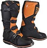 Shot X10 2.0 Black Neon Motocross Stiefel Schwarz/Orange 40
