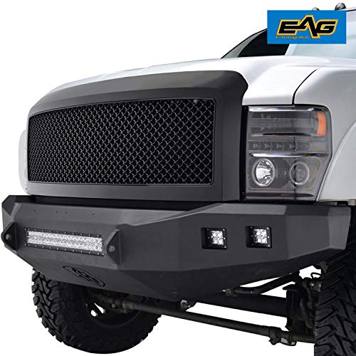 EAG Replacement Mesh Grille Black Front Hood Upper Grill Fit for 08-10 F250/F350/F450 Super Duty