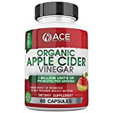 ACE Nutrition Organic Apple Cider Vinegar Capsules (1000 mg) with Probiotics (1 Billion Units)   Natural Detox and Weight Loss Supplements   Cayenne Pepper   Non-GMO, Gluten Free