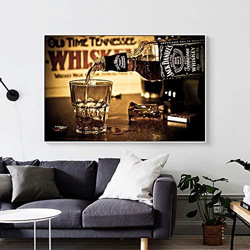 Wandkunst Stillleben Wasser des Lebens Leinwand Bilddruck Wohnzimmer Hauptdekoration,Rahmenlose Malerei-40X60cm