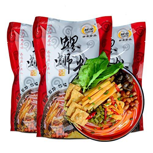 Liuzhou Schneckenpulver, Schneckennudeln, Nudeln, gekochte Sorte, würziger Geschmack, Luo si Reisnudeln (6 Stück).