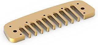 Vbestlife Pieza de Peine armónica Blues, Pieza de armónica Blues Comb de aleación de Aluminio para Hohner Golden Melody