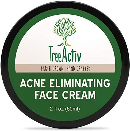 TreeActiv Acne Eliminating Face Cream | Cystic Acne Treatment | Natural, Extra Strength, Fast Acting for Clearing Facial Acne | Gentle Enough for Sensitive Skin, Adults, Teens, Men, Women | Tea Tree | 2 fl oz