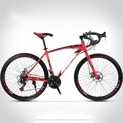 Syxfckc 26-Zoll, 30/40 / 60mm High Carbon Stahl Mountain Bike, 24/27 Geschwindigkeit, Klaue Griff, Doppelscheibenbremsbeläge, Große Getriebedruckplatte, Variable Speed männliche und weibliche City B