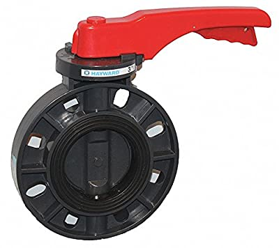 "Hayward BYCS1080E1LGA Series BYCS PVC Body & Disc EPDM Liner Lever for Butterfly Valve, 8"" Size by Hayward Industries"
