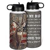 KittyliNO5 Botella de acero inoxidable Travel Mug Wild Jagen An Meinen Vater con aislamiento de doble pared, tazas con tapa...